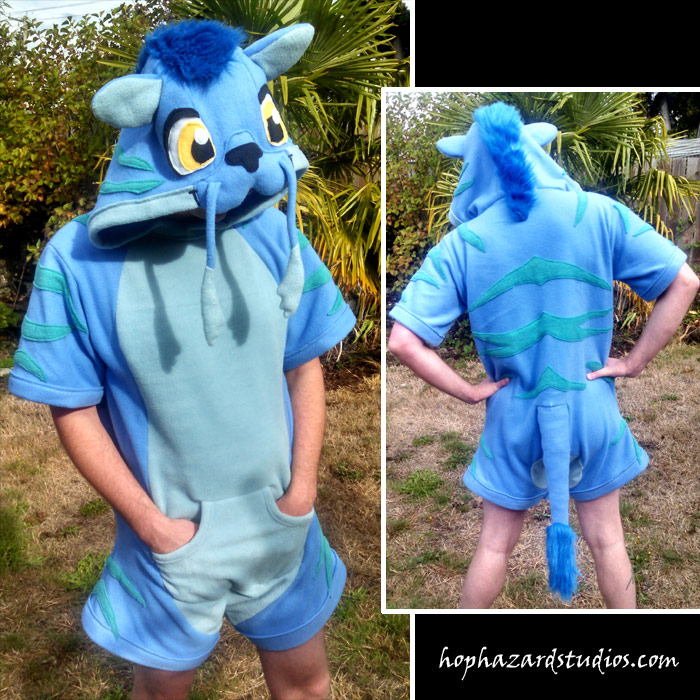 Eastern Dragon Wolf Romper Style