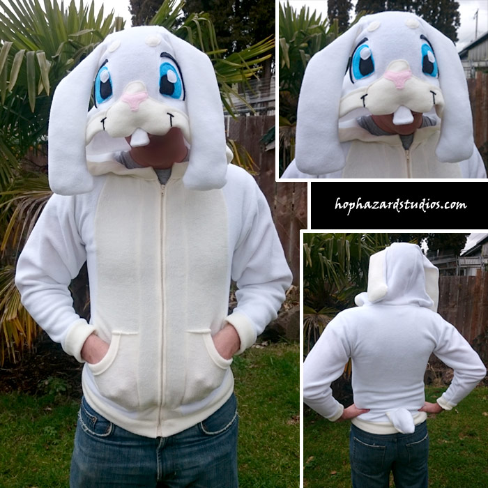 White Bunny Hoodie